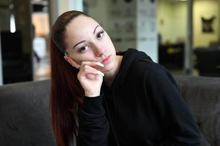 Bhad Bhabie, real name Danielle Bregoli, attends a recording session at Atlantic Records Studios on March 13, 2018 in Los Angeles, California.