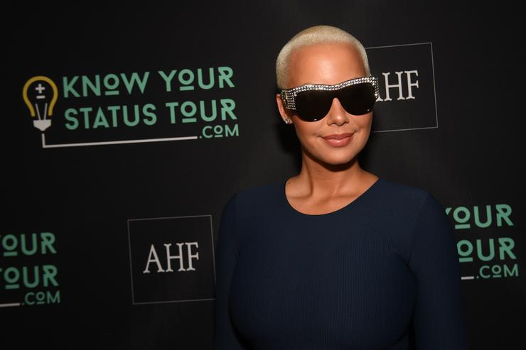 Amber Rose attends AHF Presents The Know Your Status Tour -Atlanta at Clark Atlanta Univeristy on April 20, 2017 in Atlanta, Georgia.
