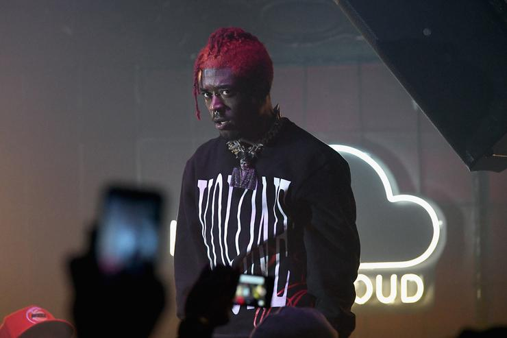 Lil Uzi Vert performs on stage as SoundCloud celebrates What's New, Now and Next in Music at The Good Room on December 13, 2017 in New York City.