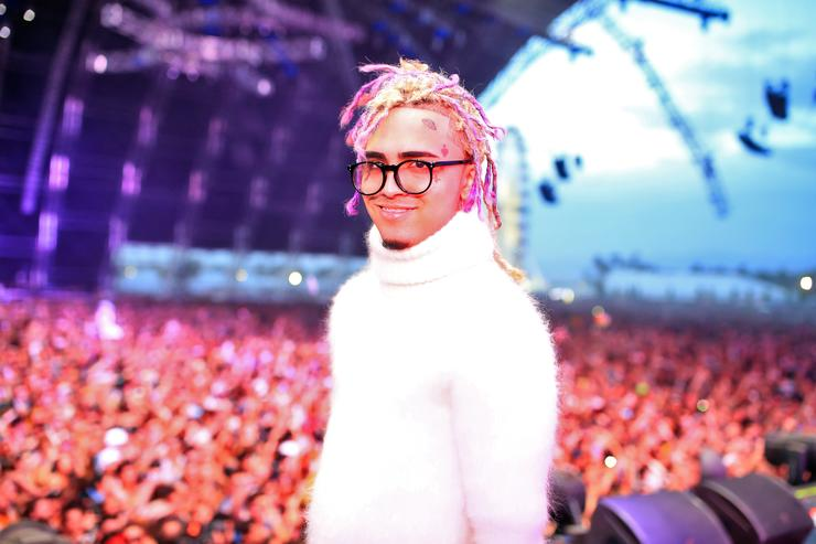 Lil Pump performs onstage during the 2018 Coachella Valley Music and Arts Festival Weekend 1 at the Empire Polo Field on April 15, 2018 in Indio, California.