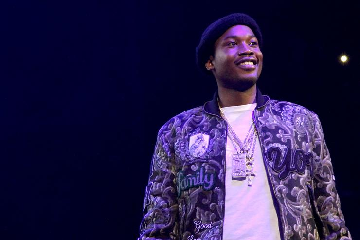 Rapper Meek Mill performs onstage during 105.1's Powerhouse 2015 at the Barclays Center on October 22, 2015 in Brooklyn, NY.