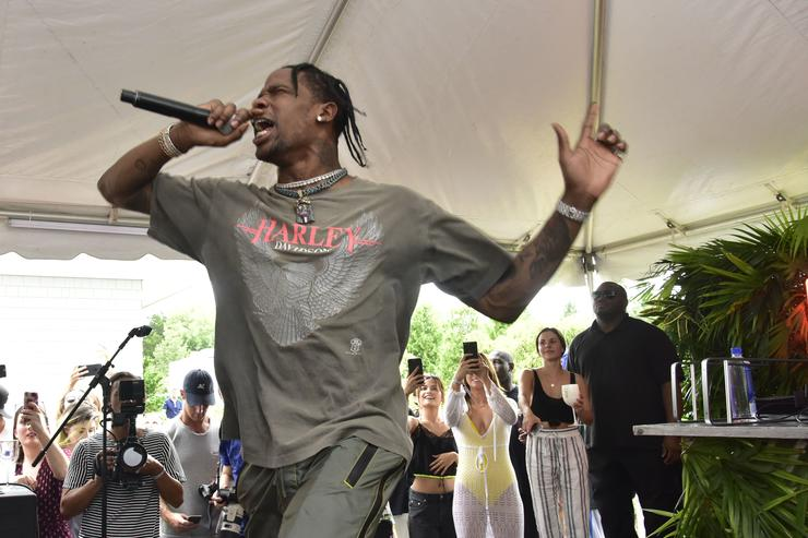 Travis Scott performs at the FIJI Water at #REVOLVEintheHamptons 2017 on July 22, 2017 in Bridgehampton, New York.