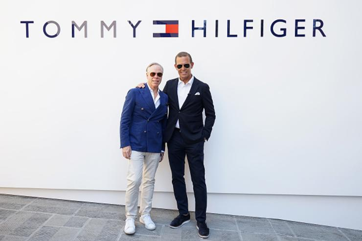 Tommy Hilfiger and Daniel Grieder attend the Tommy Hilfiger Spring 2018 Collection Preview during 92. Pitti Immagine Uomo on June 13, 2017 in Florence, Italy.