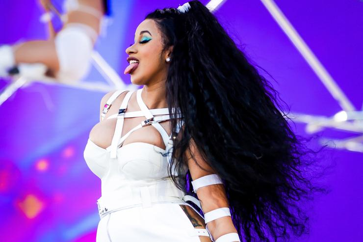 Cardi B performs onstage during the 2018 Coachella Valley Music And Arts Festival at the Empire Polo Field on April 22, 2018 in Indio, California