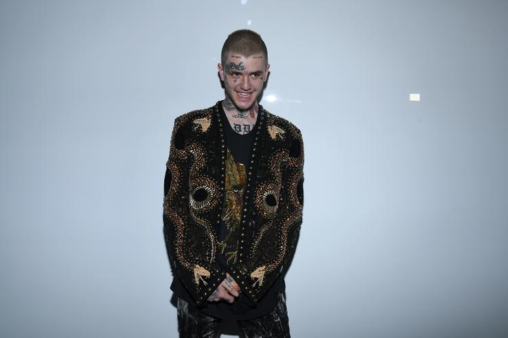 Lil Peep attends the Balmain Menswear Spring/Summer 2018 show as part of Paris Fashion Week on June 24, 2017 in Paris, France.
