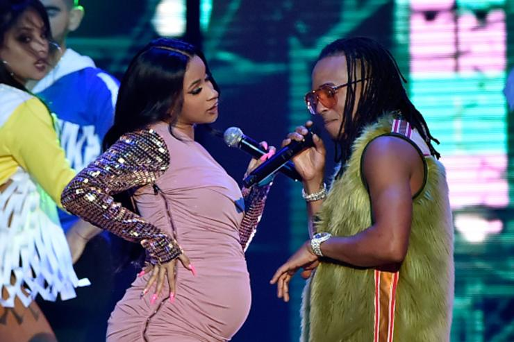 Cardi B (L) and Ozuna perform onstage at the 2018 Billboard Latin Music Awards at the Mandalay Bay Events Center on April 26, 2018 in Las Vegas, Nevada