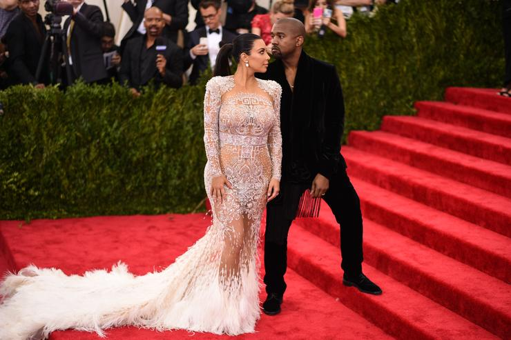 Kim Kardashian and Kanye West attend the 'China: Through The Looking Glass' Costume Institute Benefit Gala at the Metropolitan Museum of Art on May 4, 2015 in New York City
