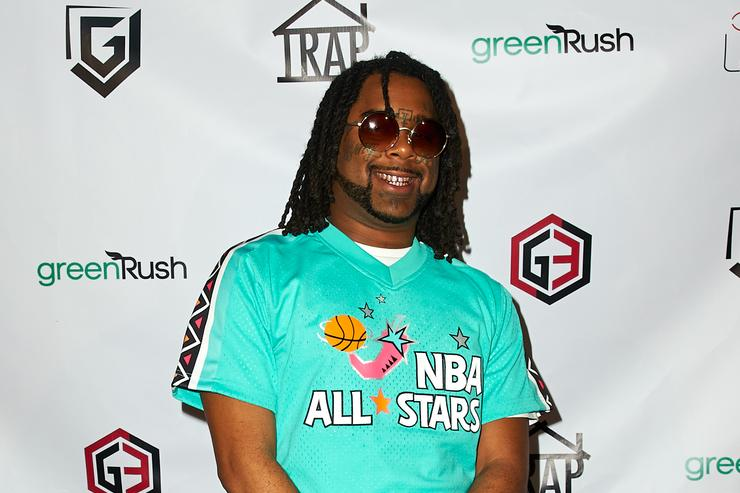 Rapper 03 Greedo attends the Trap House Clothing & Laced South Bay Presents TRAP ALL STAR FEST at The Belasco Theater on February 15, 2018 in Los Angeles, California.