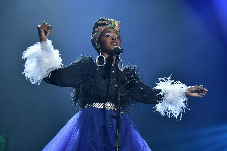 Recording artist Lauryn Hill pays tribute to Nina Simone during the 33rd Annual Rock & Roll Hall of Fame Induction Ceremony at Public Auditorium on April 14, 2018 in Cleveland, Ohio.
