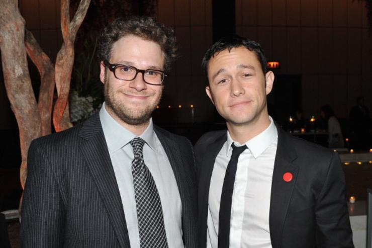 Seth Rogen and Joseph Gordon-Levitt attend the after party for the premiere of '50/50' at the Four Seasons Restaurant on September 26, 2011 in New York City.