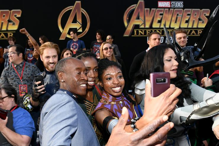 Don Cheadle attends the premiere of Disney and Marvel's 'Avengers: Infinity War' on April 23, 2018 in Los Angeles, California.