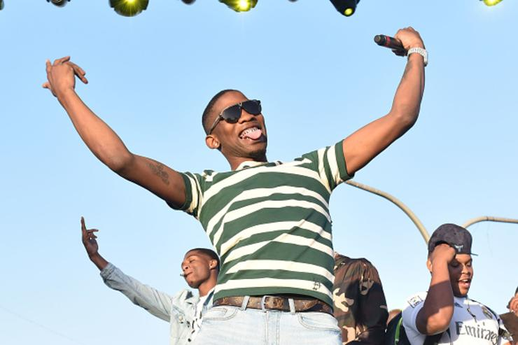 Rapper BlocBoy JB performs onstage during the Smokers Club Festival at The Queen Mary on April 28, 2018 in Long Beach, California.
