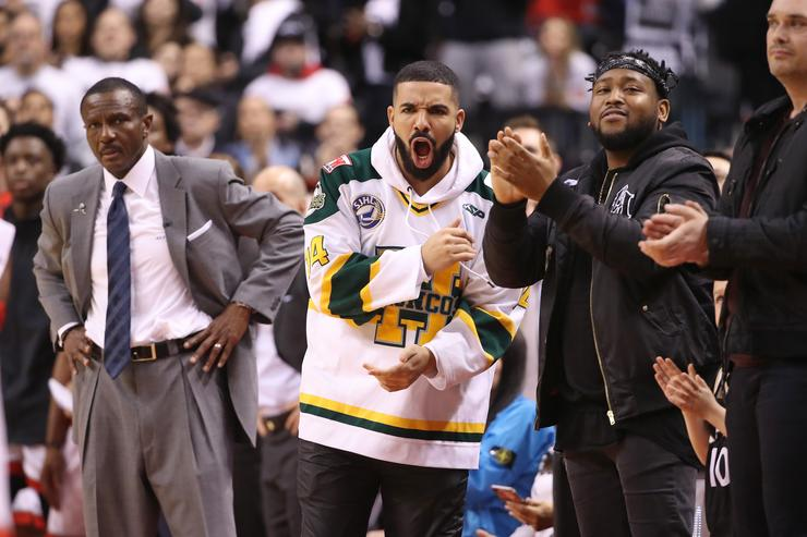 National Basketball Association warns Drake after verbal sideline altercation with Kendrick Perkins