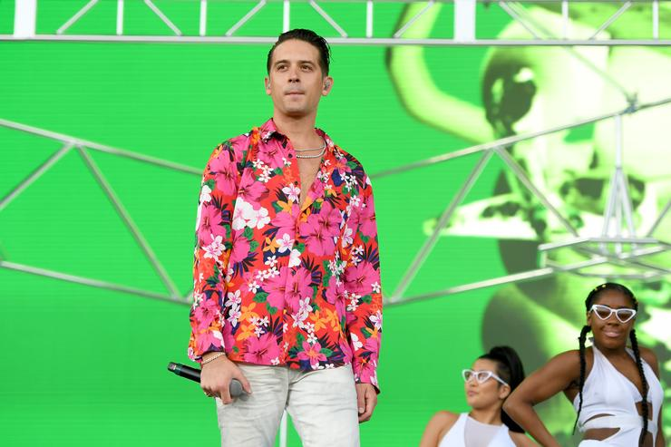 G-Eazy performs onstage with Cardi B during the 2018 Coachella Valley Music and Arts Festival Weekend 1 at the Empire Polo Field on April 15, 2018 in Indio, California.