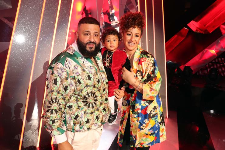 DJ Khaled, Asahd Tuck Khaled, and Nicole Tuck attend the 2018 iHeartRadio Music Awards which broadcasted live on TBS, TNT, and truTV at The Forum on March 11, 2018 in Inglewood, California
