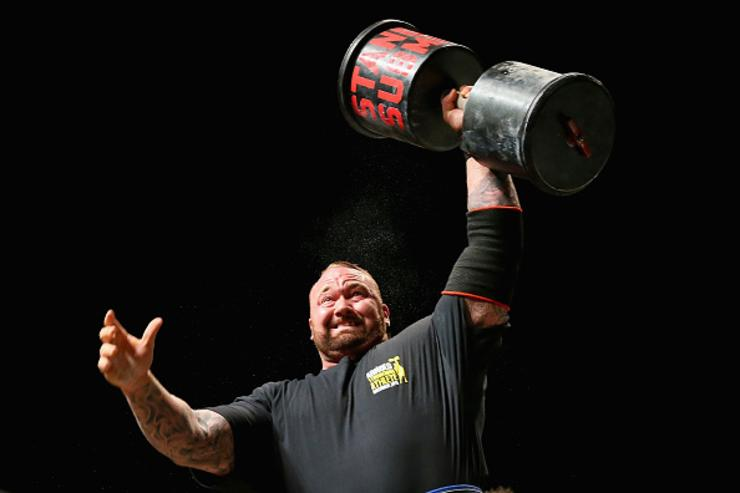 Hafthor Julius Bjornsson of Iceland competes in the Arnold Classic Professional Strongman competition during the 2016 Arnold Classic on March 19, 2016 in Melbourne, Australia.