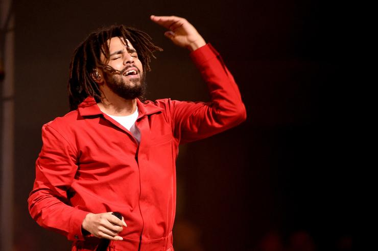 Hip hop artist J. Cole performs at the Forum on July 11, 2017 in Inglewood, California