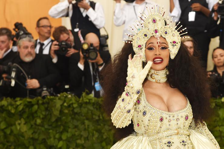 Cardi B attends the Heavenly Bodies: Fashion & The Catholic Imagination Costume Institute Gala at The Metropolitan Museum of Art on May 7, 2018 in New York City