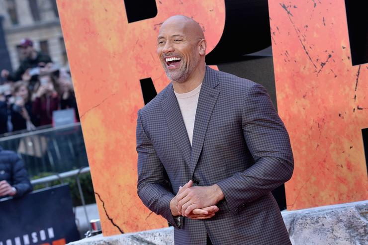 Actor Dwayne Johnson attends the European Premiere of 'Rampage' at Cineworld Leicester Square on April 11, 2018 in London, England.