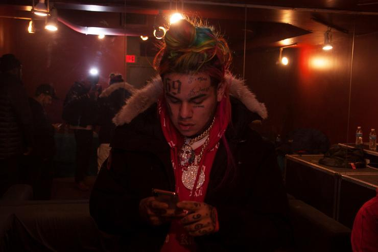 Tekashi 6ix9ine backstage at S.O.B.'s on March 2, 2018 in New York City