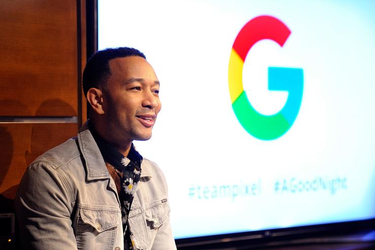 John Legend attends the John Legend and Google premiere of his new music video 'A Good Night,' filmed entirely on Google Pixel 2 on April 5, 2018 in Los Angeles, California.