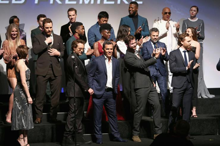 Cast of 'Avengers: Infinity War' attend the Los Angeles Global Premiere for Marvel Studios' Avengers: Infinity War on April 23, 2018 in Hollywood, California.