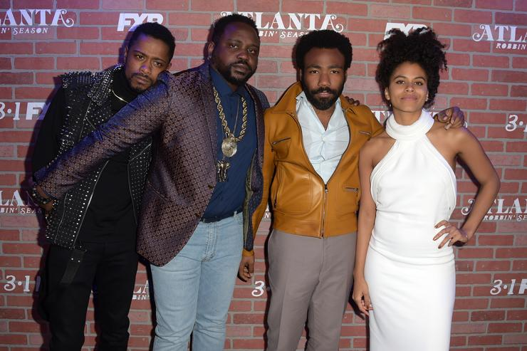 Donald Glover and the cast of Atlanta