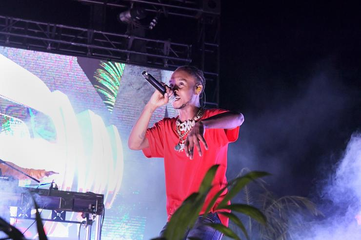 Slim Jxmmi of Rae Sremmurd performs onstage at Spotify Hosts Sr3mmPocalypse Party with Performances by Rae Sremmurd on May 7, 2018 in Los Angeles, California.
