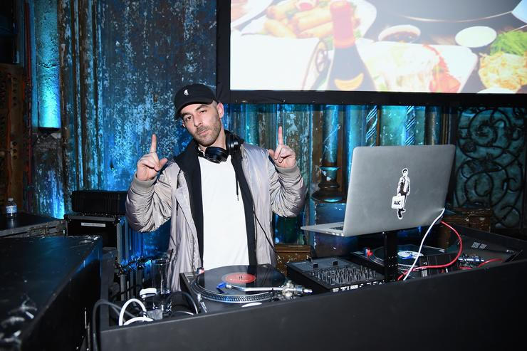 DJ Alchemist performs during the VICELAND launch party at The Angel Orensanz Foundation on February 25, 2016 in New York City.