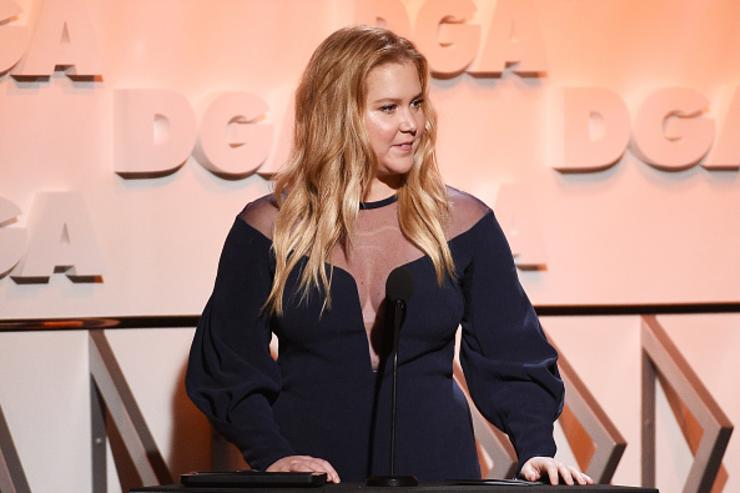 Comedian Amy Schumer speaks onstage during the 70th Annual Directors Guild Of America Awards at The Beverly Hilton Hotel on February 3, 2018 in Beverly Hills, California.