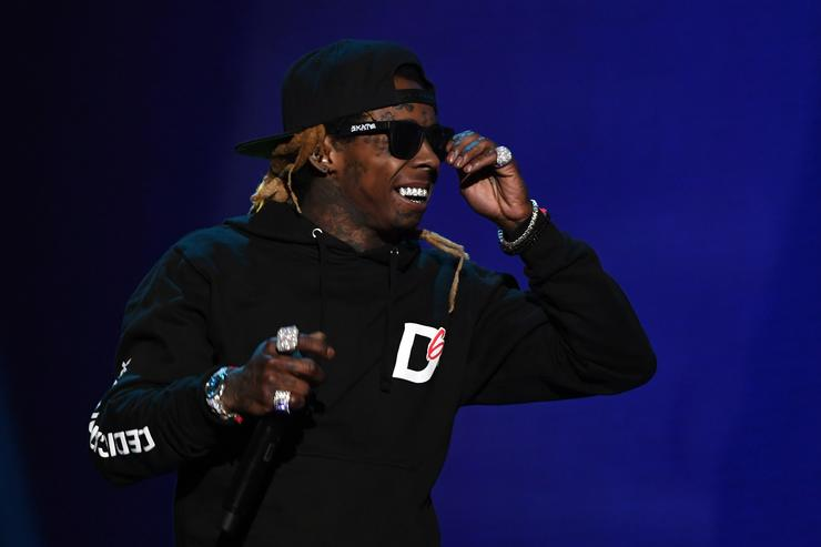 Rapper Lil' Wayne performs during the 2018 Adult Video News Awards at The Joint inside the Hard Rock Hotel & Casino on January 27, 2018 in Las Vegas, Nevada.