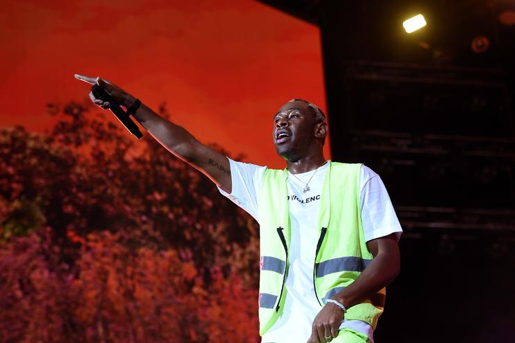 Tyler, the Creator performs onstage during the 2018 Coachella Valley Music And Arts Festival at the Empire Polo Field on April 21, 2018 in Indio, California.