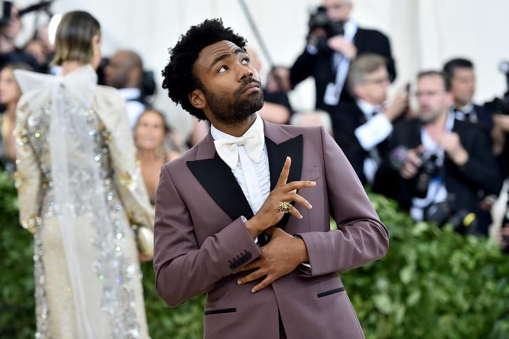 Donald Glover attends the Heavenly Bodies: Fashion & The Catholic Imagination Costume Institute Gala at The Metropolitan Museum of Art on May 7, 2018 in New York City.