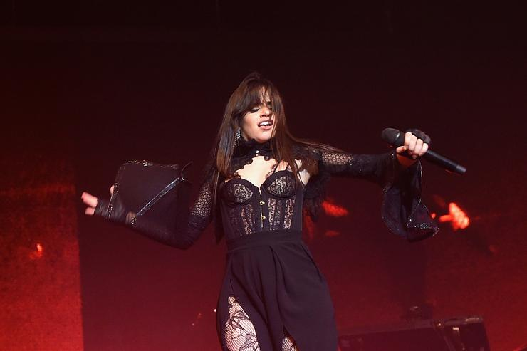 Camila Cabello performing in New York
