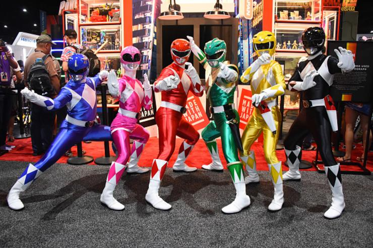 Saban's Power Rangers attend preview day at San Diego Comic-Con 2017 at San Diego Convention Center on July 19, 2017 in San Diego, California.