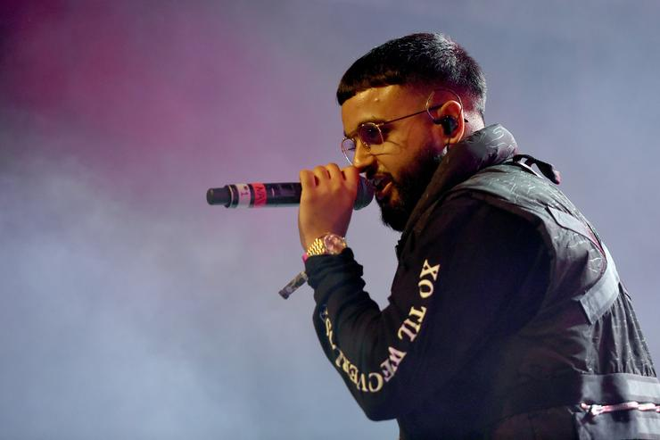 Nav performs at the Sahara Tent during day 2 of the 2017 Coachella Valley Music & Arts Festival (Weekend 2) at the Empire Polo Club on April 22, 2017 in Indio, California.