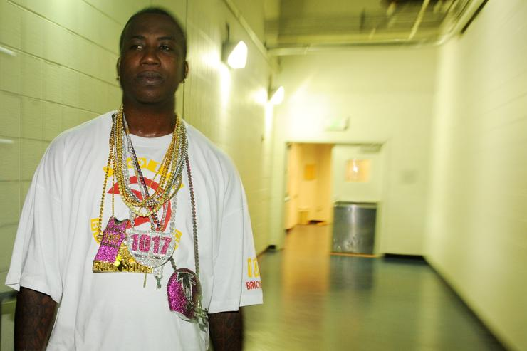 Gucci Mane backstage during the Hot 107.9 Birthday Bash 14 at Philips Arena on June 20, 2009 in Atlanta, Georgia
