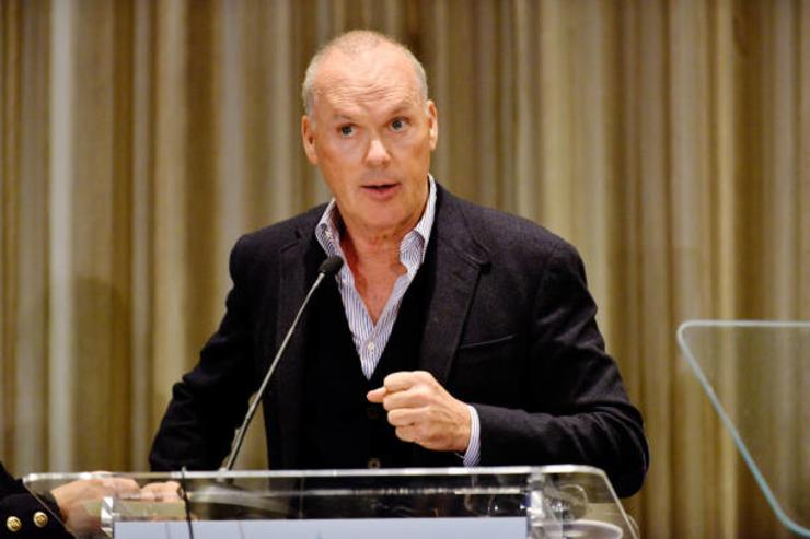 Actor Michael Keaton speaks at the Media Access Awards 2017 at The Four Seasons on November 17, 2017 in Beverly Hills, California