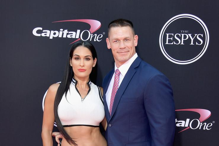 This moment between John Cena and Nikki Bella is hilariously awkward