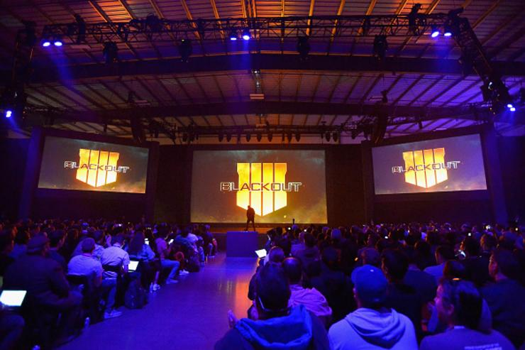 A view of the atmosphere at the Call of Duty: Black Ops 4 Community Reveal Event in Hawthorne, CA, on May 17, 2018.