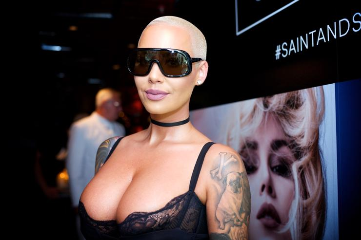 Amber Rose attends the Kat Von D Beauty Fragrance Launch Press Party #SAINTANDSINNER at Hollywood Roosevelt Hotel on June 20, 2017 in Hollywood, California.