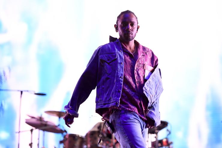Kendrick Lamar performs onstage with SZA during the 2018 Coachella Valley Music And Arts Festival at the Empire Polo Field on April 13, 2018 in Indio, California