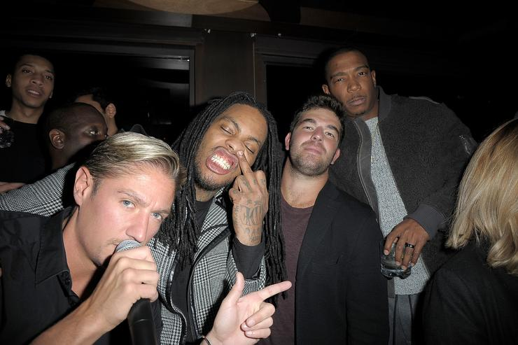 Matthew Assante, Waka Flocka, Billy McFarland and Ja Rule attend 'Whisper Wednesdays' at PHD Terrace Dream Midtown on December 14, 2016 in New York City