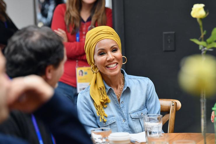 Actress Jada Pinkett Smith attends the Feature Film Jury Orientation Breakfast during the 2018 Sundance Film Festival at Cafe Terigo on January 19, 2018 in Park City, Utah.