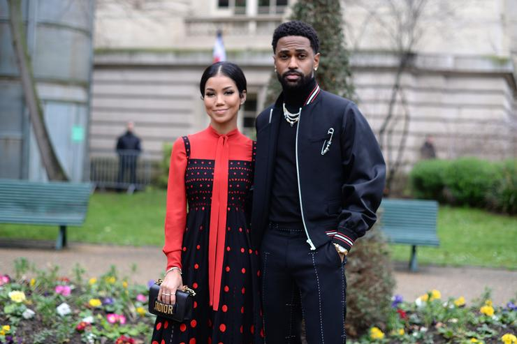 Jhene Aiko and Big Sean attend the Dior Homme Menswear Fall/Winter 2018-2019 show as part of Paris Fashion Week on January 20, 2018 in Paris, France.