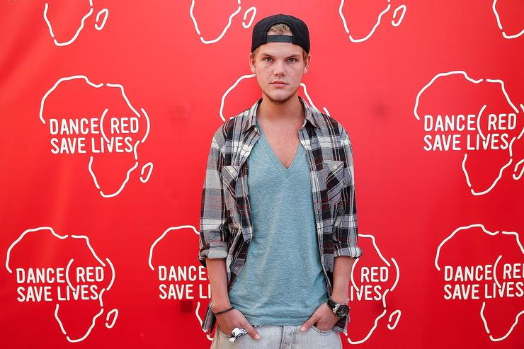 In this handout photo provided by (RED) Avicii poses backstage for DANCE (RED), SAVE LIVES during Stereosonic 2012 at Melbourne Showgrounds on December 1, 2012 in Melbourne, Australia.