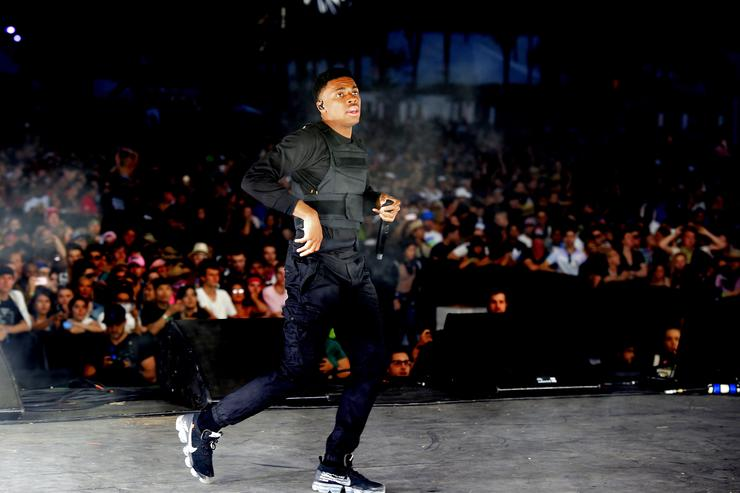 Vince Staples performs onstage during the 2018 Coachella Valley Music And Arts Festival at the Empire Polo Field on April 13, 2018 in Indio, California.