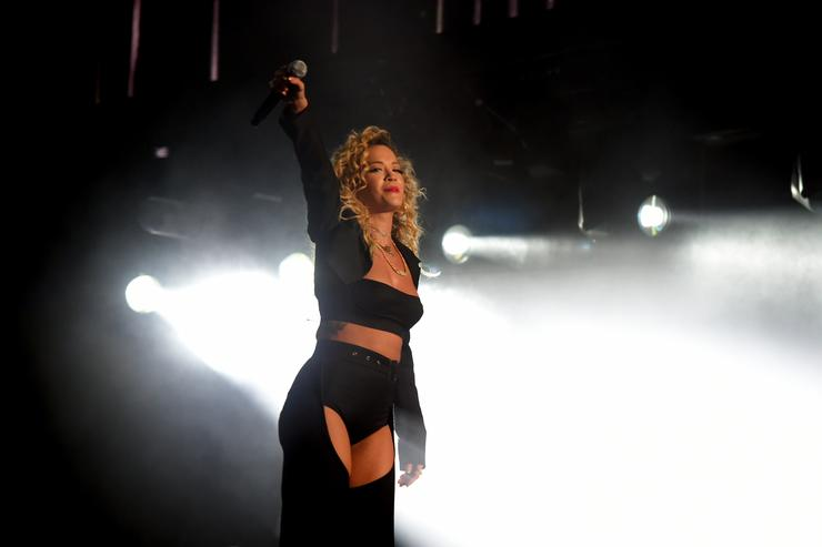 Rita Ora performs onstage during the 2018 Coachella Valley Music And Arts Festival at the Empire Polo Field on April 13, 2018 in Indio, California.