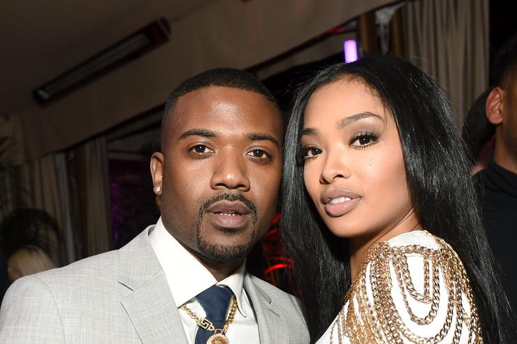 Ray J and Princess Love attend GQ and Chance The Rapper Celebrate the Grammys in Partnership with YouTube at Chateau Marmont on February 12, 2017 in Los Angeles, California.