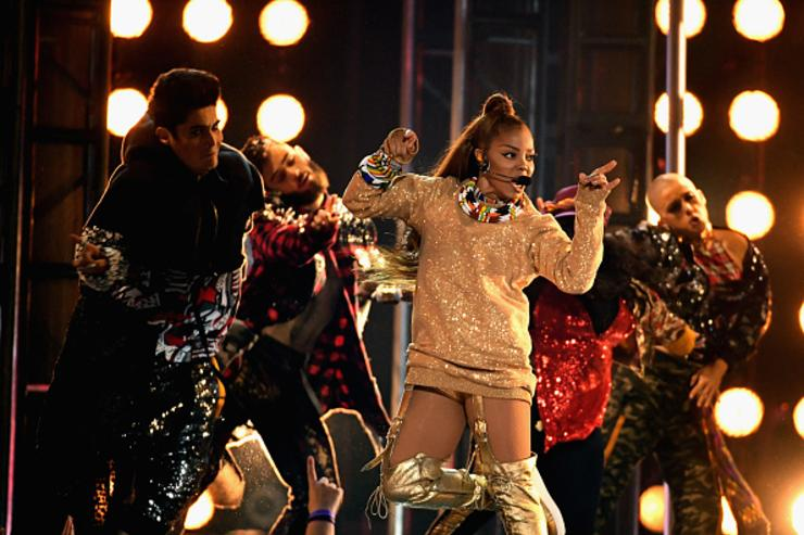 Honoree Janet Jackson performs onstage during the 2018 Billboard Music Awards at MGM Grand Garden Arena on May 20, 2018 in Las Vegas, Nevada.